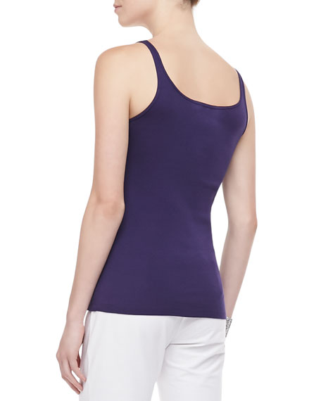 Long Slim Silk Tank, Women's