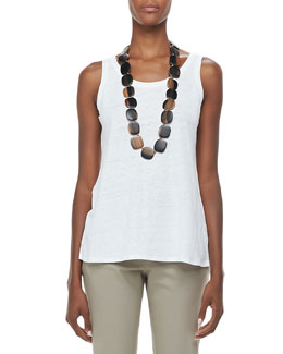 Eileen Fisher Linen Jersey Scoop-Neck Tank, Women's