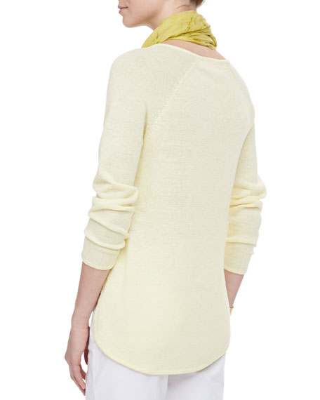 Lightweight Linen V-Neck Top, Women's
