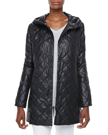 Quilted Hooded Puffer Jacket, Petite