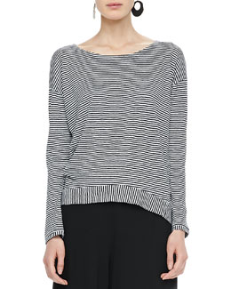 Eileen Fisher Jersey Long-Sleeve Tee, Petite