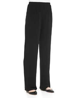 Caroline Rose Stretch-Knit Slim Pants, Women's