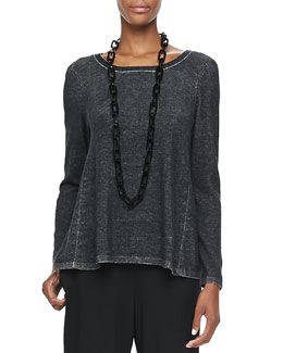 Eileen Fisher Plaited High-Low Tunic