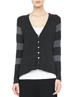 Eileen Fisher V-Neck Shaped Cardigan