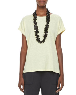 Eileen Fisher Organic Short-Sleeve Tee