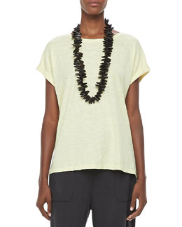 Eileen Fisher Organic Short-Sleeve Tee, Petite
