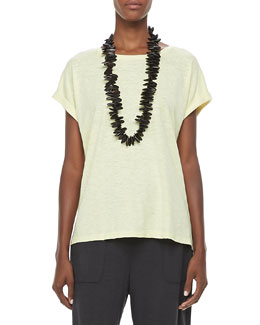 Eileen Fisher Organic Short-Sleeve Tee, Women's