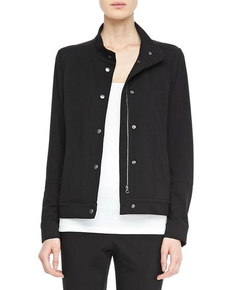 Organic Jersey Zip-Front Jacket