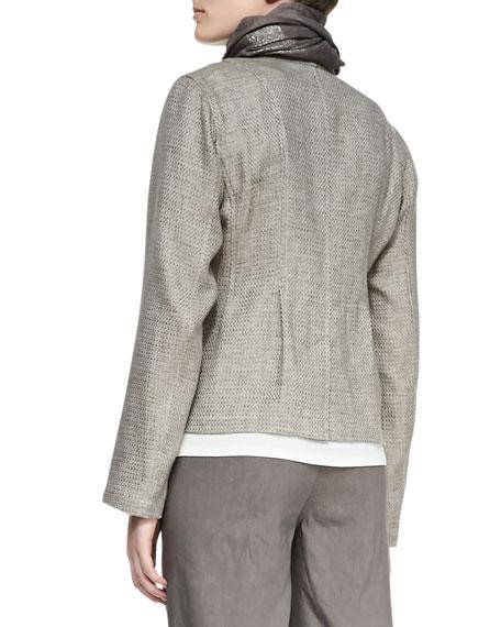 Organic Basketweave 3-Button Jacket