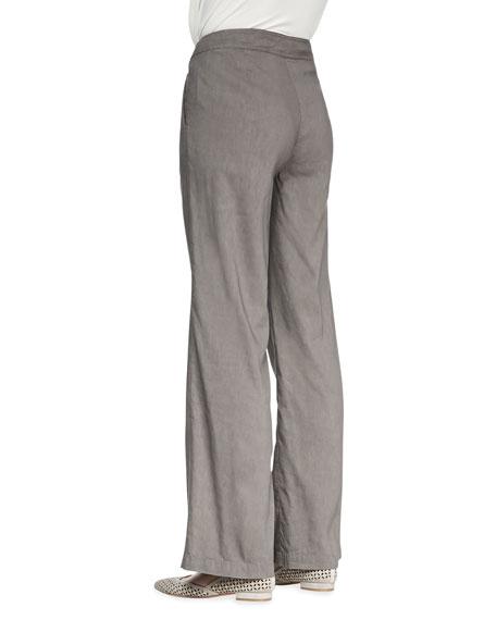 Linen-Blend Straight-Leg Trousers