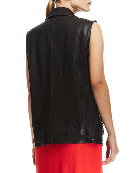 Hubbard Long Leather Vest