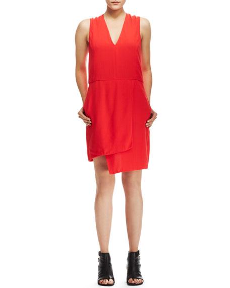 Mina Assymetric Crepe Dress