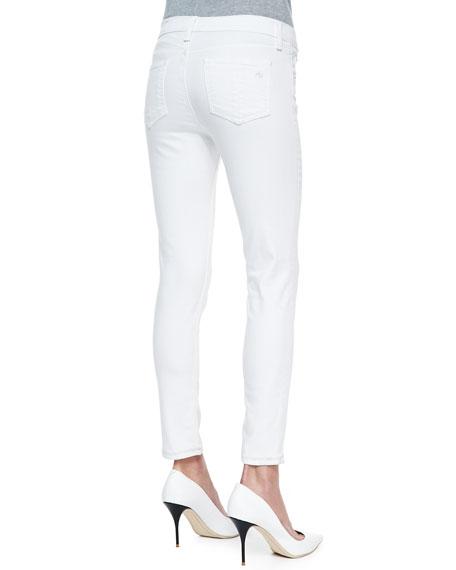 Repair Denim Capri Pants, Bright White