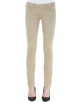 True Religion Jude Sateen Skinny Jeans, Almond