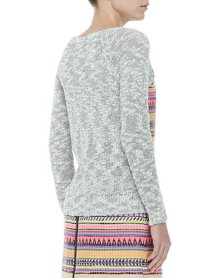 Couture Raffia Sweatshirt, Marble