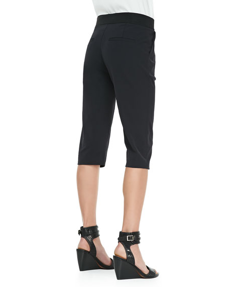 Super Cropped Trousers, Black