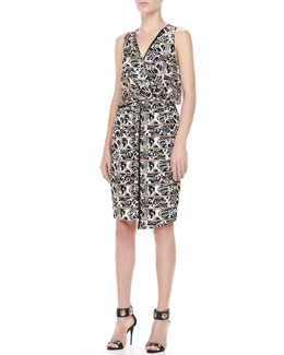 Elizabeth and James Avanel Printed Racerback Dress