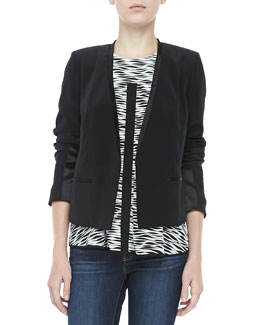 Elizabeth and James Bryant Crepe Open Jacket, Black