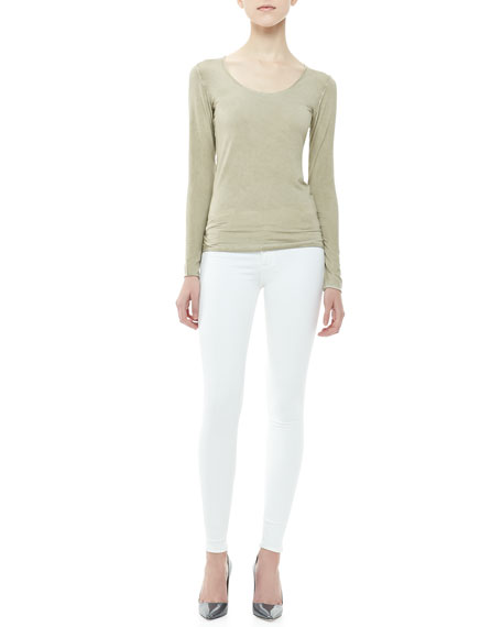 Nico Mid-Rise Super Skinny Jeans, White