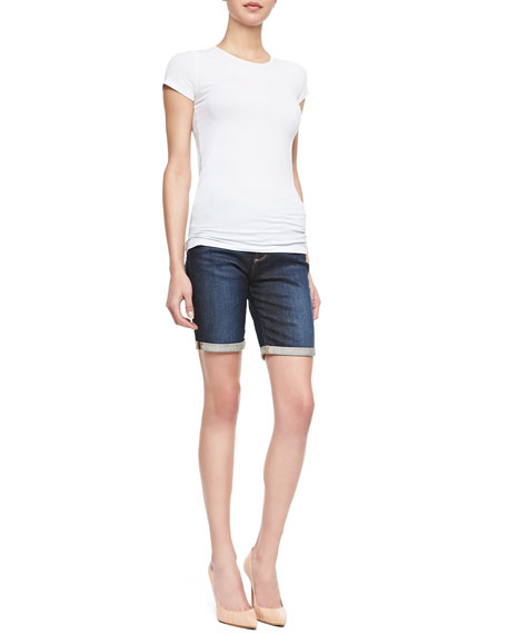 Brooke Rolled-Cuff Bermuda Shorts