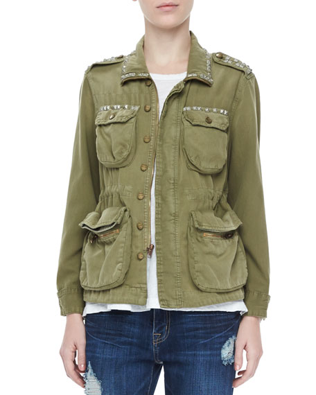 The Lone Solider Studded Jacket