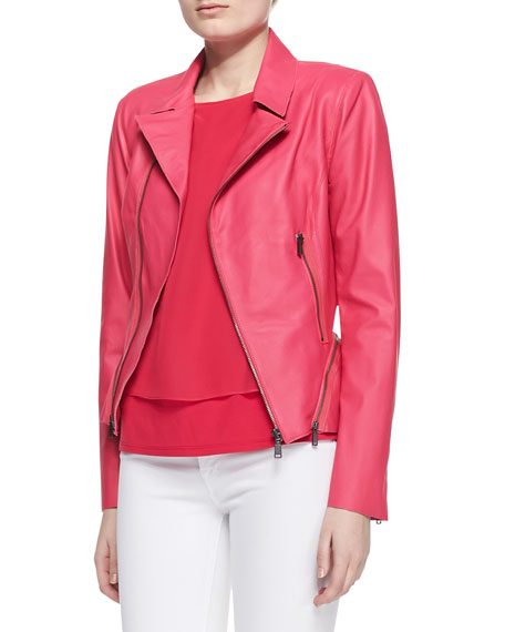 Emalia Lambskin Leather Jacket