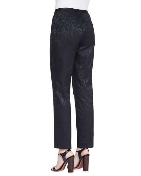 Elie Tahari Jillian Animal-Print Jacquard Pants