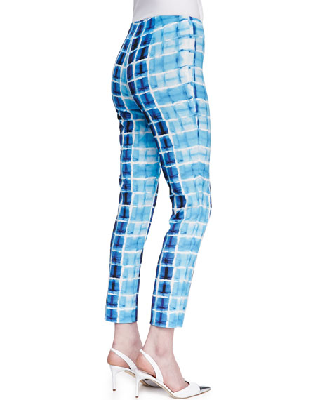 Stanton Printed Straight-Leg Pants