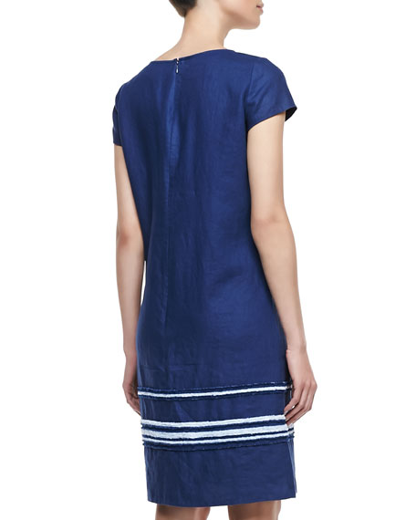 Jaedyn Linen Cap-Sleeve Dress