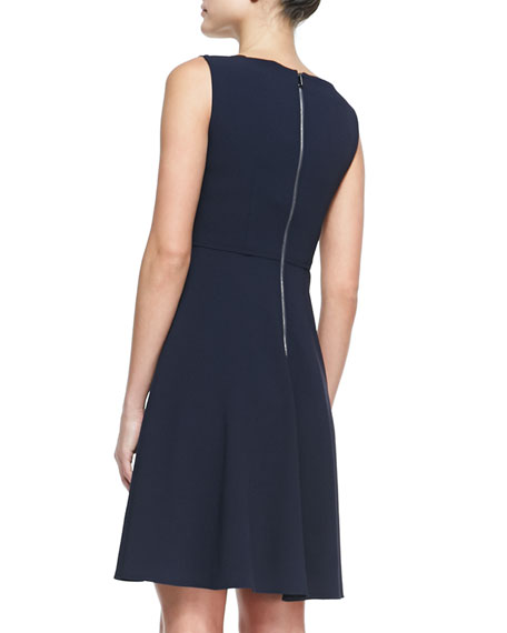 Shira Sleeveless Dress with Leather Straps
