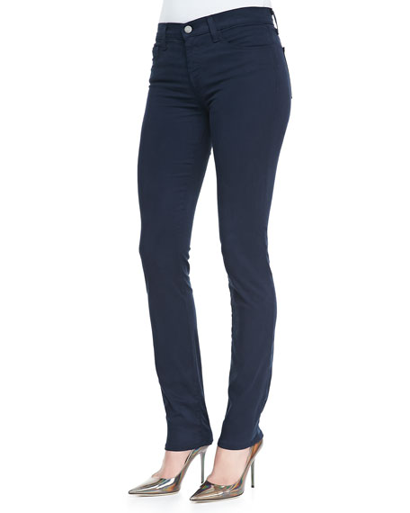 811 Luxe Sateen Slim Jeans, Carbon Blue
