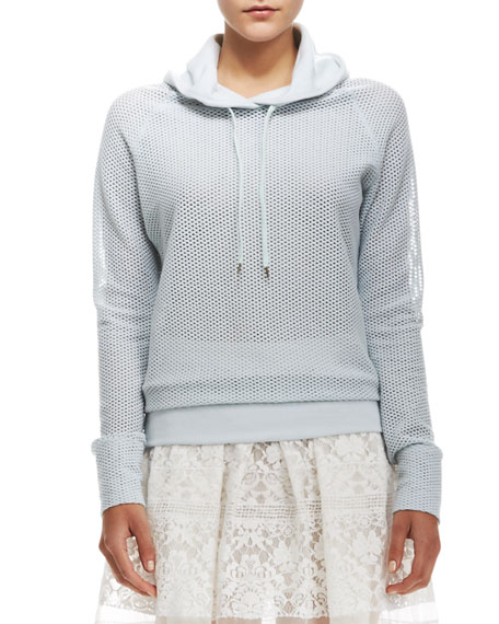 Perforated Hooded Pullover