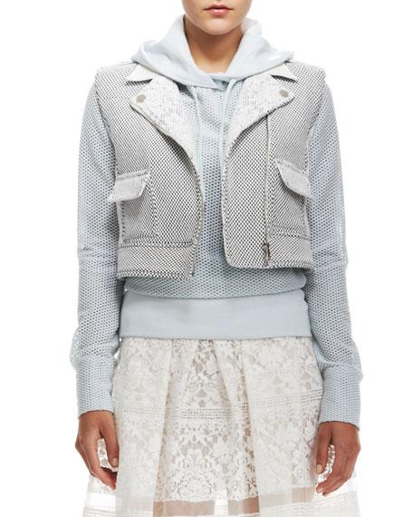 Honeycomb-Pattern Cropped Vest