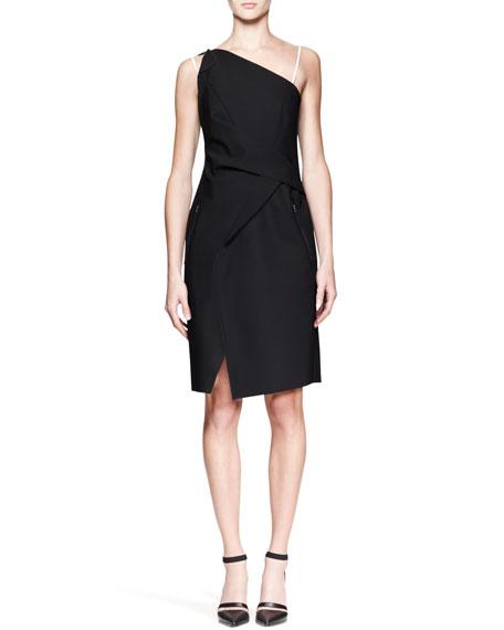Pierce Contrast Origami Dress