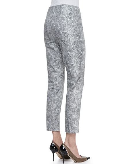 Stanton Snake-Printed Pants