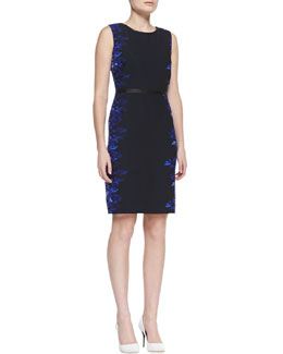 Elie Tahari Beverly Digital-Print Sheath Dress