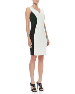 T Tahari Mallie Sleeveless Colorblock Dress