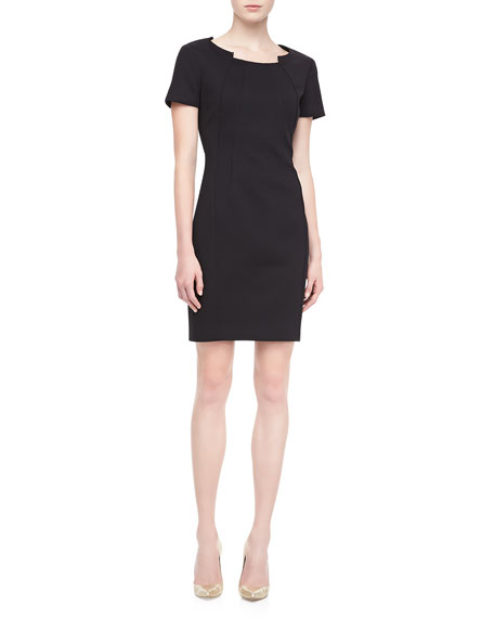 Lanette Short-Sleeve Sheath Dress