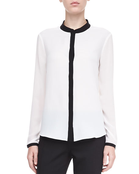 Tammy Georgette Long-Sleeve Blouse