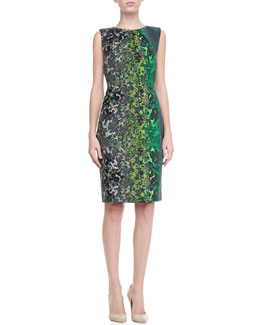 T Tahari Lucillie Printed Sheath Dress