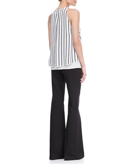 Lyalka C Linear Twine Sleeveless Top, Uniform White