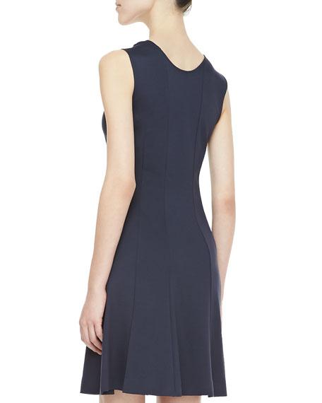 Canneros Sleeveless Crepe Dress
