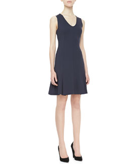 Theory Canneros Sleeveless Crepe Dress
