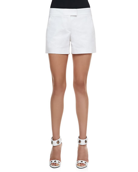 Lynie Checklist Shorts, White