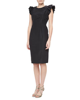 Carolina Herrera Silk Faille Dress, Black