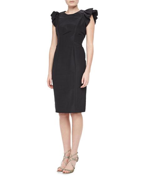 Silk Faille Dress, Black