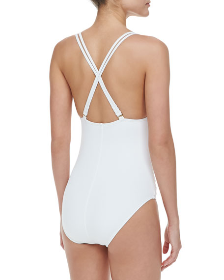Island Goddess Cross-Back One-Piece Swimsuit