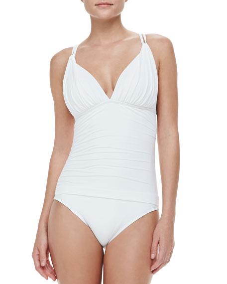Island Goddess Cross-Back One-Piece Swimsuit