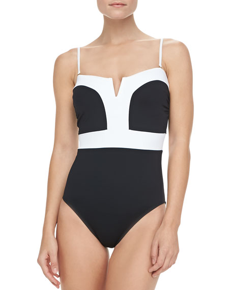 Milano Two-Tone One-Piece Swimsuit