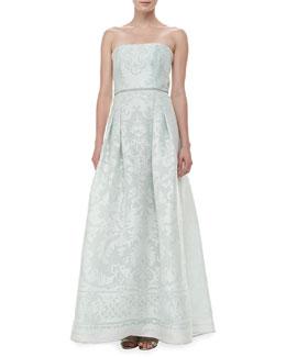 Carolina Herrera Strapless Devore Gown